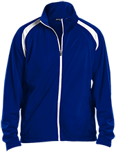 West Springfield Middle School Junior Terriers Men's Raglan Sleeve Warmup Jacket