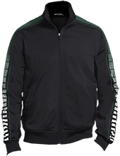Accounting Dot Print Warm Up Jacket