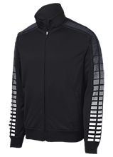 Sebeka High School Trojans Dot Print Warm Up Jacket