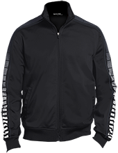 Lancaster Elementary School Lancers Dot Print Warm Up Jacket