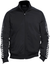 Janesville Parker High  School Vikings Dot Print Warm Up Jacket