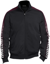 Denver Online High School Academics Dot Print Warm Up Jacket