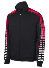 Saint Beatrice School Bulls Dot Print Warm Up Jacket