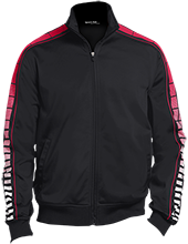 Irwin Intermediate School Mustangs Dot Print Warm Up Jacket