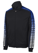 A P Hill Elementary Cougars Dot Print Warm Up Jacket