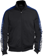 Jonesville Elementary School Blue Jays Dot Print Warm Up Jacket