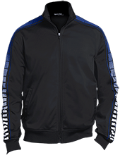 Wayne Elementary School Blue Devils Dot Print Warm Up Jacket