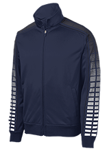 Copperwood Elementary School Chargers Dot Print Warm Up Jacket