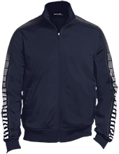 Wells Middle School Roadrunners Dot Print Warm Up Jacket