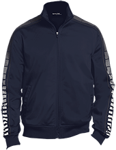 Forest Grove Elementary School Falcons Dot Print Warm Up Jacket