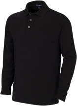 Pickens High School Blue Flame Long Sleeve Pique Knit Polo