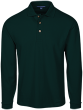 Long Sleeve Pique Knit Polo