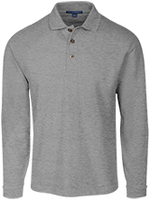 Chestnut Log Middle School Bears Long Sleeve Pique Knit Polo