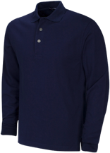 Bethesda Christian School Eagles Long Sleeve Pique Knit Polo
