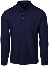 Earle B Wood Middle School Mustangs Long Sleeve Pique Knit Polo