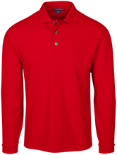 Bay View High School Redcats Long Sleeve Pique Knit Polo