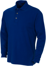 Baker Elementary School Bobcats Long Sleeve Pique Knit Polo