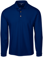 East Taylor Elementary School Blue Jays Long Sleeve Pique Knit Polo