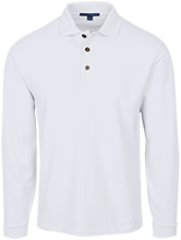 Saint Monica School School Long Sleeve Pique Knit Polo