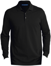 Milton High School Panthers Men's EZCotton™ Long Sleeve Polo