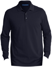 Del Val Wrestling Wrestling Men's EZCotton™ Long Sleeve Polo