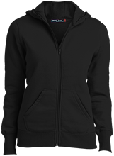 Gloster Elementary School Trojans Ladies Full-Zip Hoodie