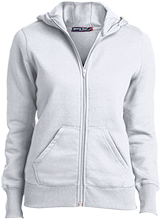 Alice M Harte Elementary School Hearts Ladies Full-Zip Hoodie