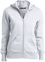Baseball Ladies Full-Zip Hoodie