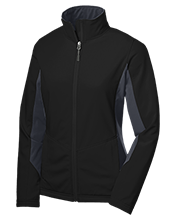 Mercersburg Academy  Blue Storm Ladies Colorblock Soft Shell Jacket