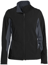Harrison Elementary School Hawks Ladies Colorblock Soft Shell Jacket