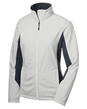 Assumption School Ladies Colorblock Soft Shell Jacket