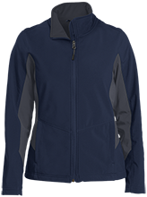 Fremont Elementary School Birds Ladies Colorblock Soft Shell Jacket