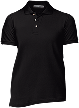 Buchholz High School Bobcats Ladies Cotton Pique Knit Polo