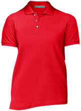 Little Mountain Elementary School Mustangs Ladies Cotton Pique Knit Polo