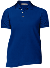 Milnor High School Bison Ladies Cotton Pique Knit Polo