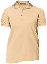 Bush Elementary School Dolphins Ladies Cotton Pique Knit Polo
