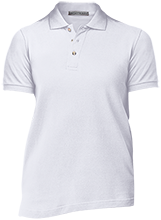Travis Elementary School Mustangs Ladies Cotton Pique Knit Polo