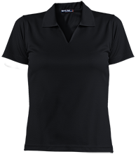 Little Mountain Elementary School Mustangs Ladies Dri-Mesh Short Sleeve Polos