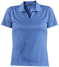 Milnor High School Bison Ladies Dri-Mesh Short Sleeve Polos