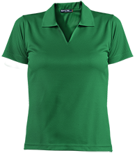 Clinton Elementary School Comets Ladies Dri-Mesh Short Sleeve Polos