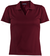 Bush Elementary School Dolphins Ladies Dri-Mesh Short Sleeve Polos