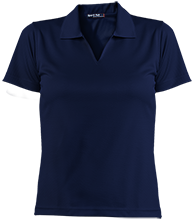 Hibbett Middle School Hawks Ladies Dri-Mesh Short Sleeve Polos