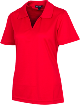 Tecumseh Junior Senior High School Braves Ladies Dri-Mesh Short Sleeve Polos