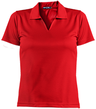 George Ledbetter Elementary School Cardinals Ladies Dri-Mesh Short Sleeve Polos