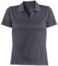 A B McDonald Elementary School Mcdonald Ducks Ladies Dri-Mesh Short Sleeve Polos