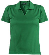 School Ladies Dri-Mesh Short Sleeve Polos
