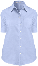 Barrie School School Ladies Short Sleeve Oxford Shirt