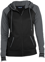 Drug Store Ladies Sport-Wick® Varsity Fleece Full-Zip Hooded Jacket