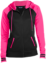 Black Bear Animal Rescue Animal Rescue Ladies Sport-Wick® Varsity Fleece Full-Zip Hooded Jacket