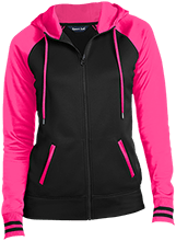 New Castle Chrysler High School Trojans Ladies Sport-Wick® Varsity Fleece Full-Zip Hooded Jacket